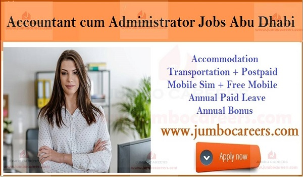 Latest office jobs in UAE, Urgent Accountant jobs in Abu Dhabi,