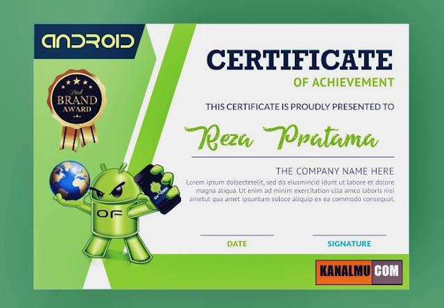 Download desain sertifikat seminar teknologi