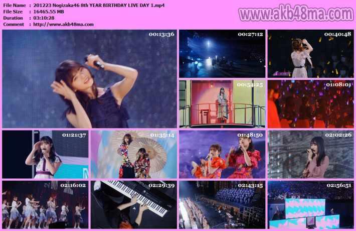 201223 Nogizaka46 8th YEAR BIRTHDAY LIVE DAY 1