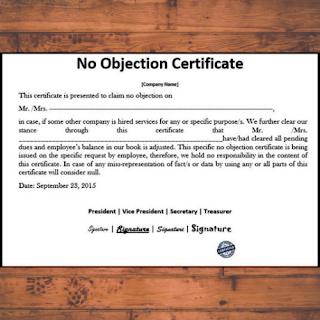 NOC Certificate