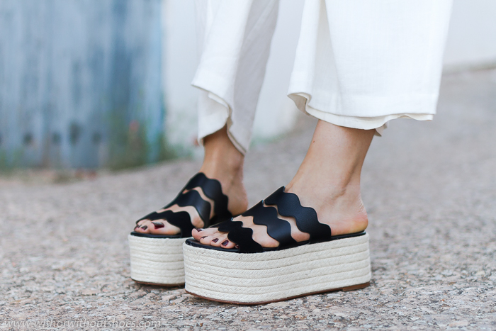 sandalias plataforma yute esparto modelo Lauren de Chloé