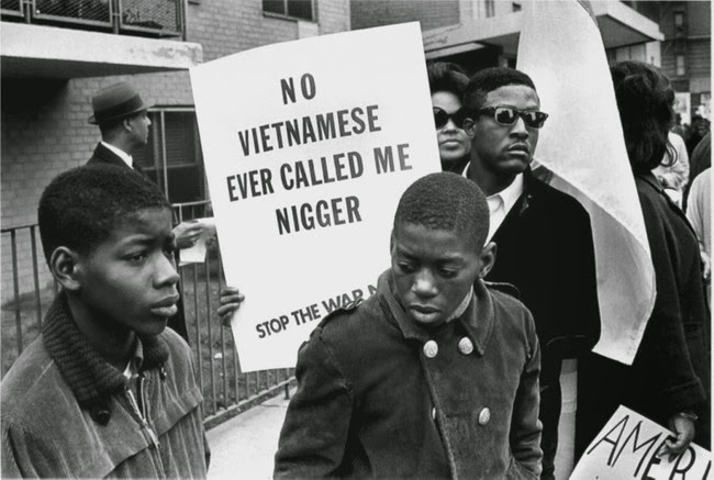 historic photography African Americans protest against the war in Vietnam during the Harlem Peace March 1967