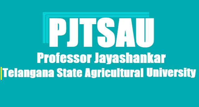 PJTSAU Assistant Professors, Telangana Agricultural University,Assistant Professors recruitment