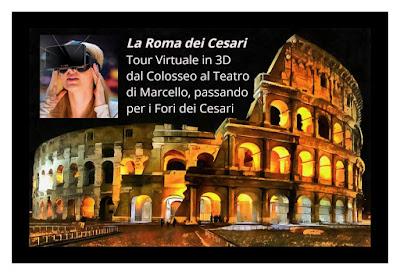 La Roma dei Cesari fra realtà e ricostruzioni virtuali in 3D - Visita guidata con archeologo e ausilio di un visore 3D