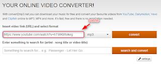 Convert Video Youtube ke mp3 di convert2mp3.net