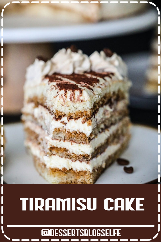 Moist sponge cake soaked in coffee liqueur and layered between a rich mascarpone cream. This tiramisu cake recipe is guaranteed to become a new favorite. #DessertsBlogSelfe #tiramisu #tiramisucake #italiancake #coffeecake #italiandeesert #classicdessert #Birthday #BirthdayDesserts #videos