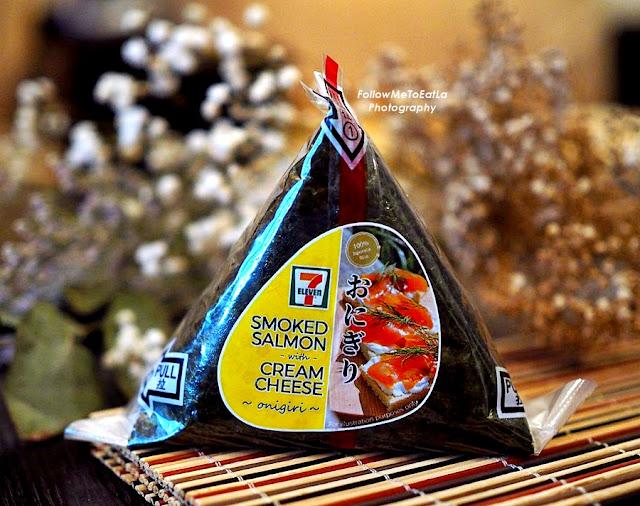 Smoked Salmon Cream Cheese Onigiri (RM4.50)