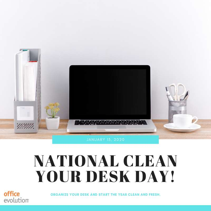 National Clean Your Desk Day Wishes Beautiful Image