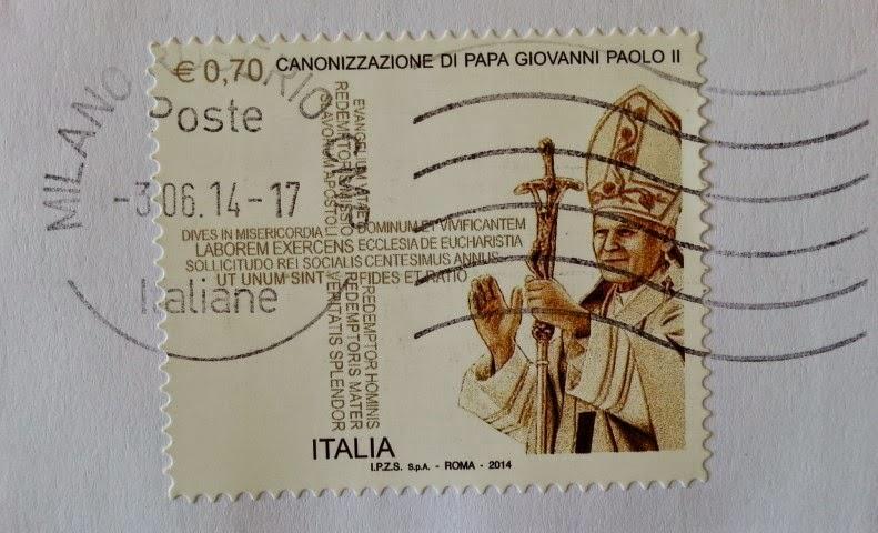 Francobollo commemorativo del Beato Giovanni Paolo II