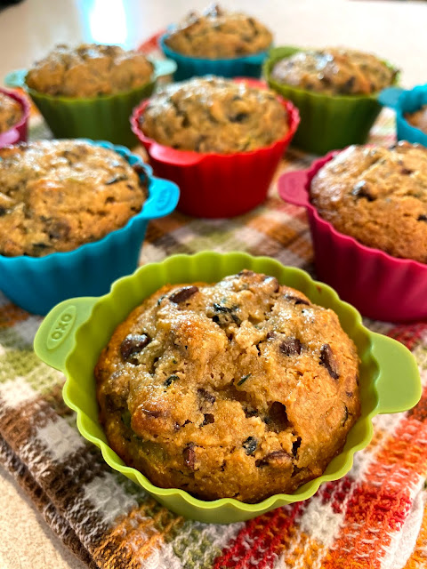 Almond Flour Chocolate Chip Zucchini Muffins | My Darling Days