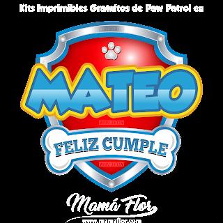 Logo de Paw Patrol: MATEO