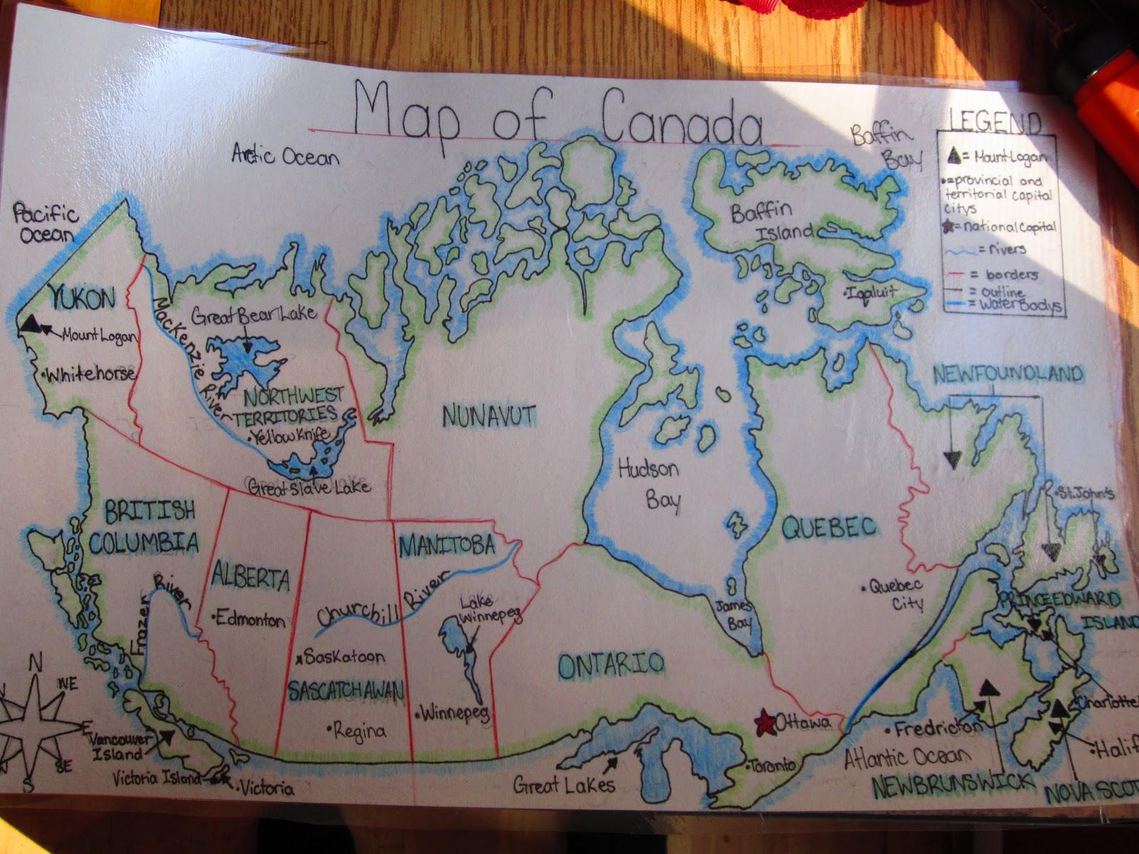 Grade 9 Map Of Canada Assignment