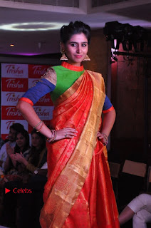 South Indian Celebrities Pos at Love For Handloom Collection Fashion Show  0006.jpg