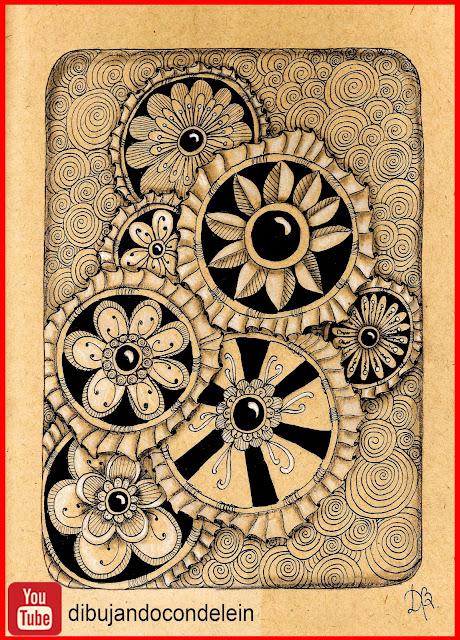 dibujo par principiantes, clases gratis de dibujo, youtube, video tutorial, como dibujar zentangle art, delein padilla, dibujando con delein, como dibujar un mandala, tutorial de dibujo, video tutorial, dibujo fácil, dibujo facil, manualidades, garabato zentagnle art, como dibujar un garabato zentangle paso a paso