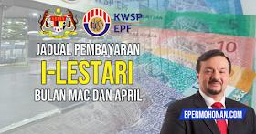Jadual Pembayaran i-Lestari Bulan Mac Dan April Yang Diawalkan ~ Semak Tarikh Terkini Pembayaran