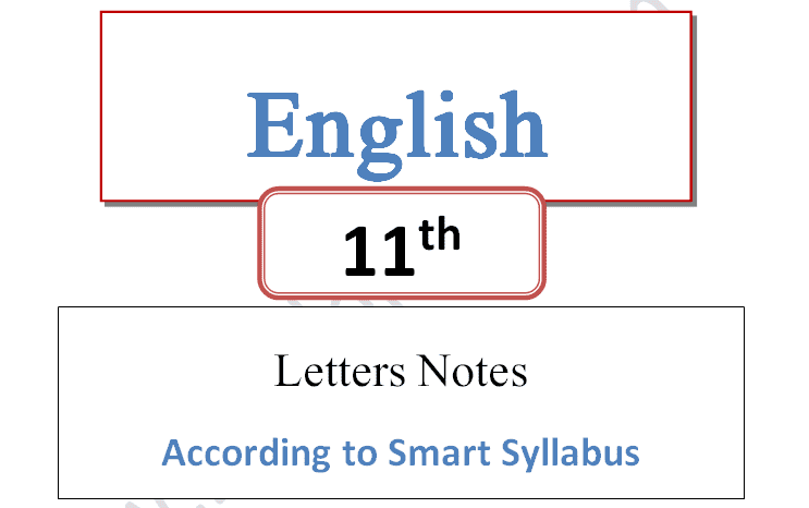 1st year English smart syllabus letters notes pdf download