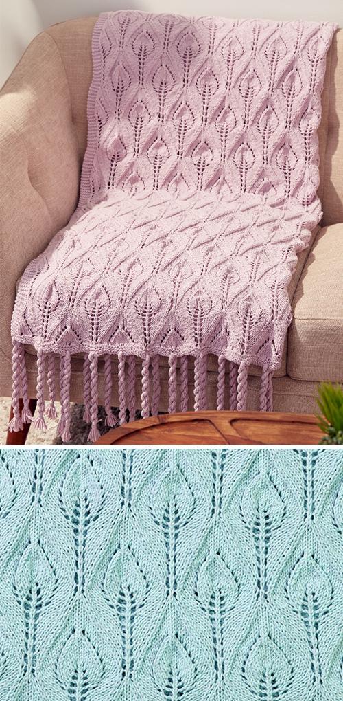 Tasseled Leaf Lace Blanket - Free Pattern