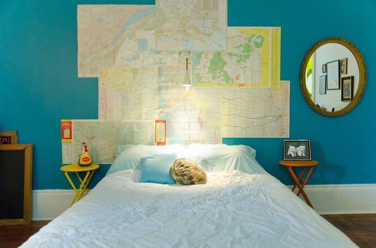 5 idées pour décorer avec des cartes géographiques