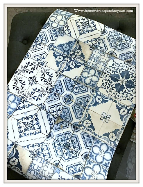 Peel & Stick- Tile -Wallpaper-Blue-White-From My Front Porch To Yours