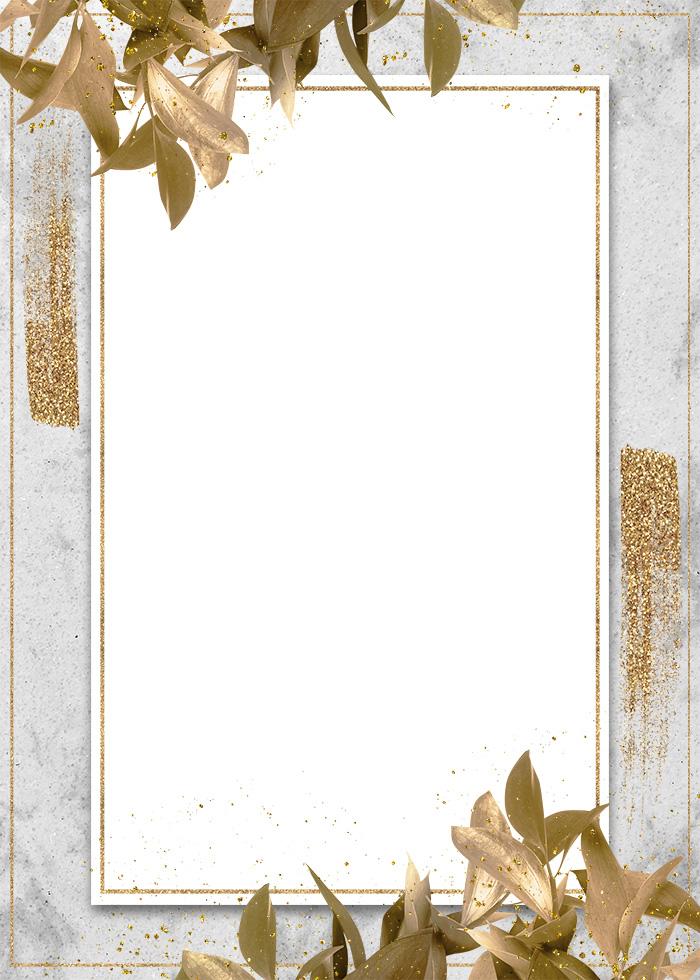 Diagonal Blade Decorative Gold Foil Editable PSD