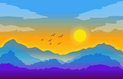 menggambar pemandangan alam