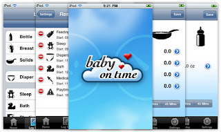 BabyOnTime iPhone App pics