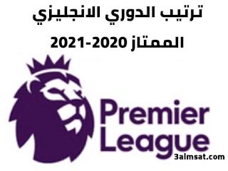ترتيب الدوري الانجليزي  الممتاز 2020-2021