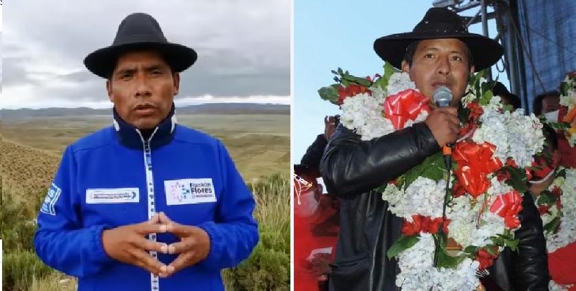 Flores y Quispe son dos políticos de ascendencia aymara que disputarán el balotaje en abril / RRSS