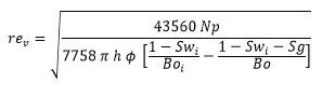 Ecuación de Radio de Drenaje