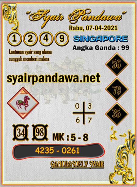 Prediksi Pandawa SGP Rabu 07-Apr-2021
