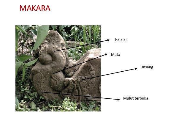 Artefak bersejarah berupa Makara di Genjen - Blora
