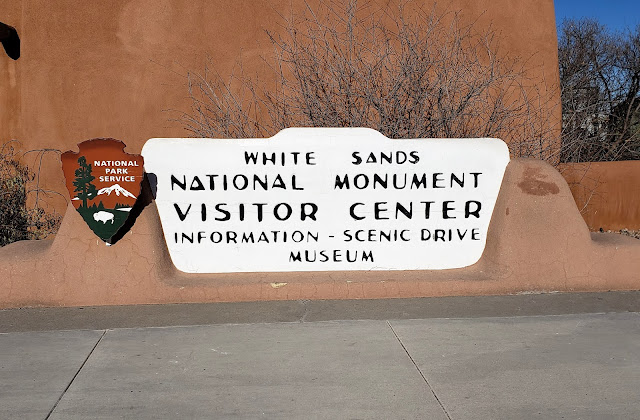 visitor center sign white sands national park new mexico