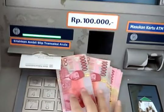 Cara supaya struk keluar ketika tarik tunai pada mesin ATM