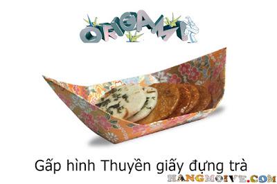 Gấp xếp thuyền bằng giấy origami