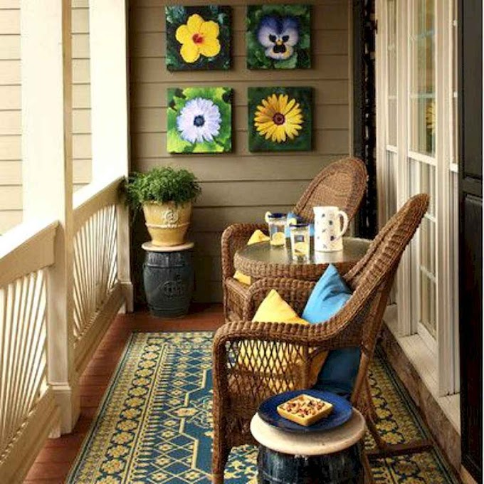 70 Affordable Cozy Apartment Balcony Decorating Ideas