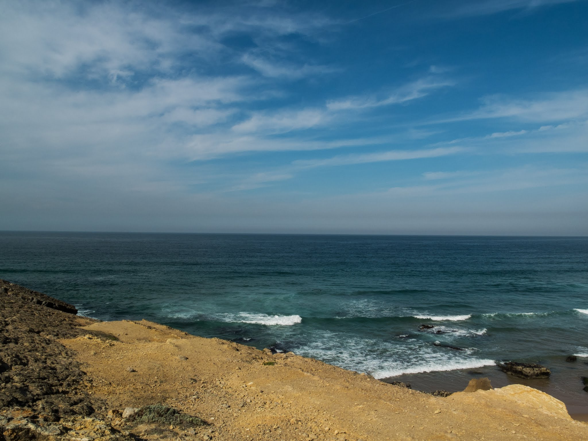 The Atlantic Ocean Coast of Praia da Guincho in Portugal.