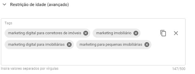 Exemplos de tags para fazer SEO e posicionar vídeos no Youtube