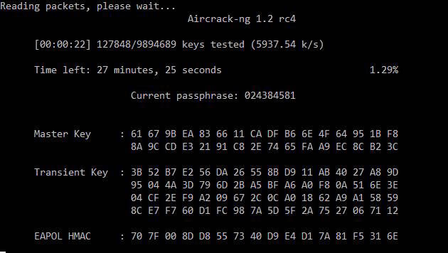 Hacking WPA passwords with Aircrack-ng in Windows