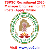 TSPSC Recruitment 2020, Manager Engineering
