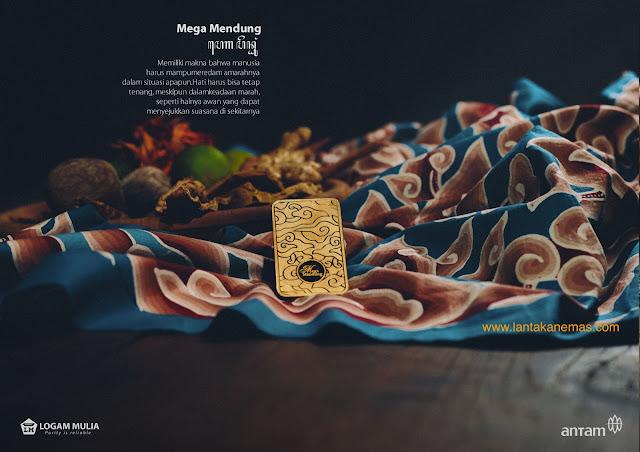 Emas Antam Motif Batik Mega Mendung