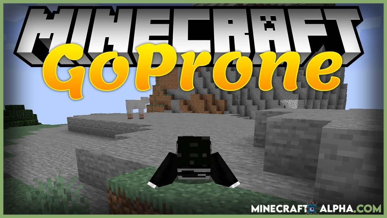Minecraft GoProne Mod 1.17.1 (Crawl Through 1-Block Gaps)