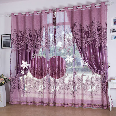 beautiful window treatment with curtains for double windows in bedroom