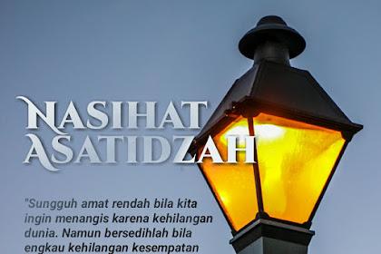 POSTER NASIHAT ASATIDZAH