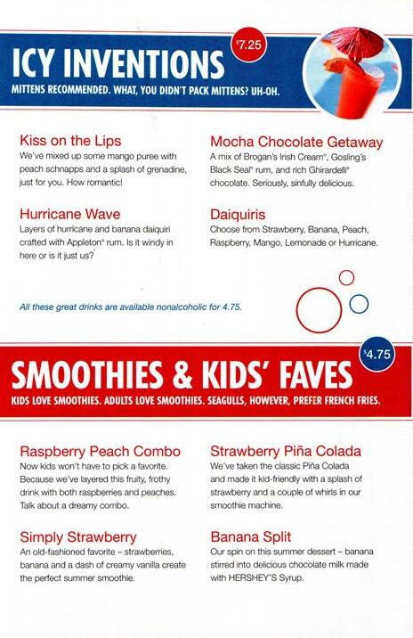 Military Cruise Deals: Carnival Cruise Line's Drink Menu