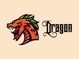 Mighty Dragon Mascot Logo