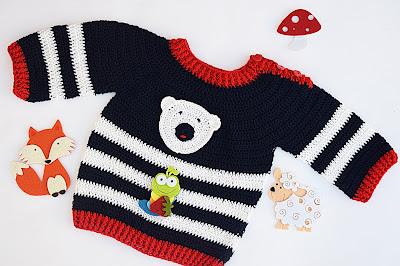1 - Crochet Imagen Jersey marinero a crochet y ganchillo lindo facil sencillo por Majovel Crochet