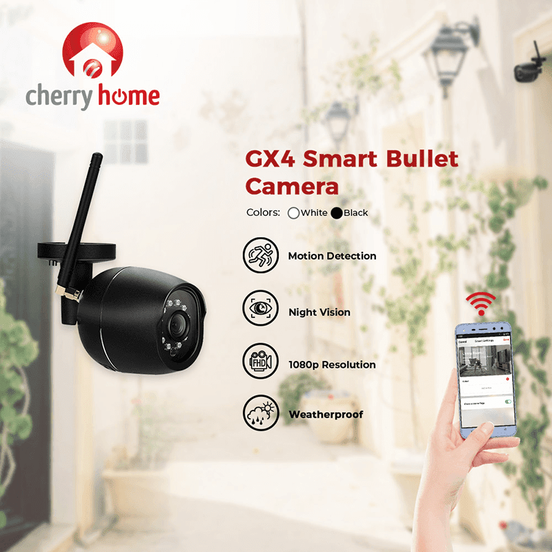 Cherry Home GX4 Smart Bullet Camera now available, priced at PHP 2,900