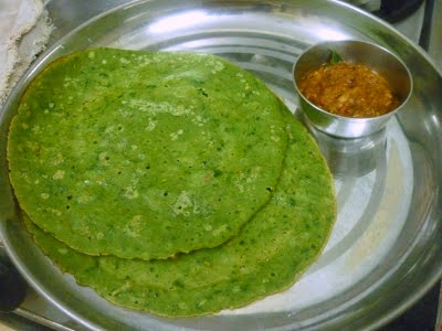 Iron Rich Palak Dosa for kids