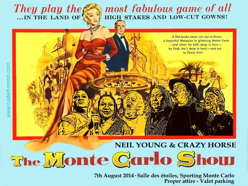Poster Neil Young & Crazy Horse in Monte Carlo, Monaco