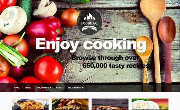 Free Foodmag Responsive Blogger Template